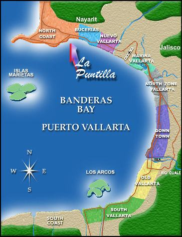Map of Banderas Bay